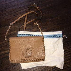 Good as new brown Tory Burch purse
